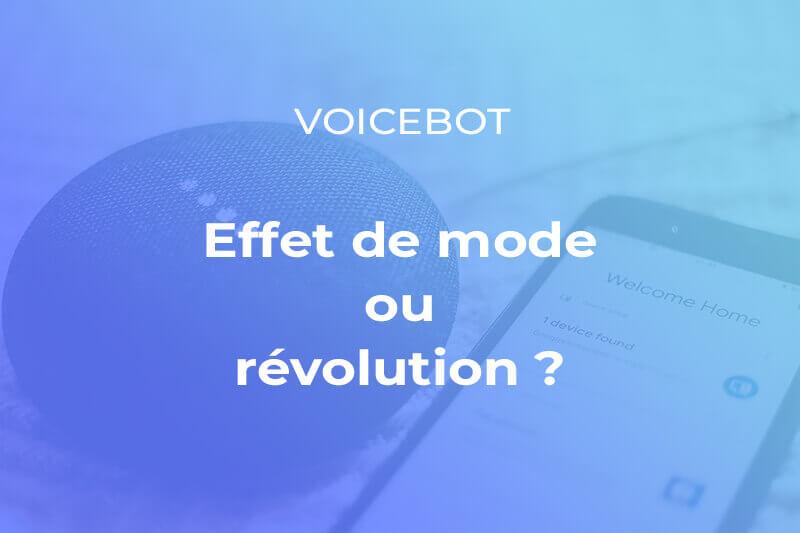 Les voicebot représentent ils une réelle évolution technologique ou s'agit il d'un effet de mode ?